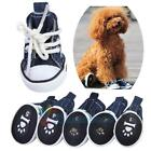 Lovery Pet Dog Boots Puppy Denim Canvas Sports Shoes Sneakers Boots Decoration