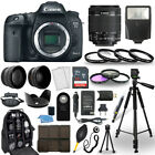 Canon EOS 7D Mark II SLR Camera + 18 55mm STM Lens + 30 Piece Accessory Bundle