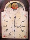 ANTIQUE AMERICAN TALL CASE 8 DAY 89 GRANDFATHER CLOCK CIRCA 1800 W DATE DIALS
