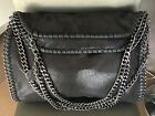 Black Stella McCartney Falabella Style bag with pewter chain handles