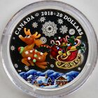 2018 20 Holiday Reindeer 1 oz Pure Silver Coin Murano Glass Element Buy Now