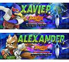 SUPER MARIO Star Fox x2 Name Posters  11x5 inch  W Name Printed