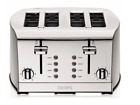 Extra Large Toaster Four Slice Stainless Steel Daily Bread Professional LED Push