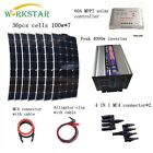 700W Solar Kit 7X100W Mono Solar panel With Inverter For RV Boat Battery Charge