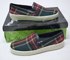 Sam Edelman Womens Becker Plaid Print Slip On Sneakers Shoes Size 6M NEW