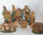 Vintage Large Plastic Christmas Nativity Set unbreakable