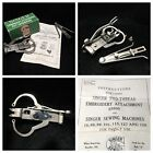 35505 Featherweight Two Thread Embroidery Singer Sewing Machine Attachment 2 Vtg