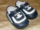 Pediped Leather Josh Trainers Navy White Shoes size 0 6 months Baby Boy CUTE