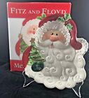 Fitz & Floyd Santa Merry Christmas Canope Plate in Box 2006