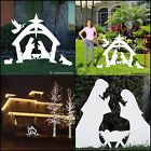 Large Christmas Nativity Yard Decoration Set Holiday Sign Display Outdoor Decor