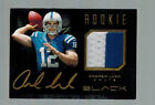 2012 12 ANDREW LUCK PANINI BLACK ROOKIE PATCH AUTO GOLD PRIME #ED 1 99 1ST MADE