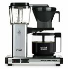 Moccamaster KBG 741 10-Cup Coffee Brewer with Glass Carafe Polished Silver Tea