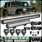 50 52+ 4X4LED Light bar+ small Brackets + Wire Fit For Jeep Wrangler JK 07 17
