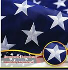 G128  American Flag US USA  8x12 ft  Embroidered Stars Sewn Stripes