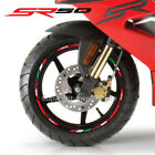 Aprilia Racing SR50 13'' wheel decals stickers rim stripes SR 50 scooter Red