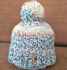 Knitted Beanie Hat, Chunky Ski Hat Hudson Bay Hat with Large Pom Pom, One Size