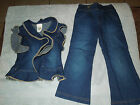 New Custom Made Girls Denim Pageant Casual Wear 4 5 2 pc set