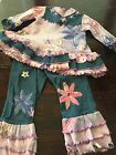 New Indygo Art Wear Girls Hand Painted OOAK Pageant Casual Wear Outfit Size 3T