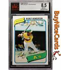 1980 Rickey Henderson Topps RC Rookie #482 BGS BVG 8.5 Perfect Centering PSA ?