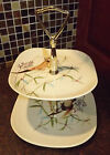 Red Wing Pottery Spring Song Pattern Two Tier Tidbit Tray Redwing Pottery