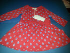 3 6 m Pumpkin Patch RED Dress with Blue apples NEW baby girl school long sleeve