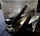 Jessica Simpson Shoes 75M High Heel Black Patent Zebra 4 1 4 High Pinup Slip On