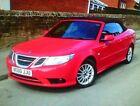 LARGER PHOTOS: Saab 93 Diesel TID Linear (150) BHP Red Convertible with low mileage.  2011 .