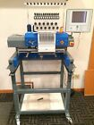 ZSK 12-Needle Sprint Convertible Embroidery Machine w/Flatbed Conversion Table