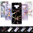 Retro Slim Granite Marble Pattern Soft TPU Case Cover Fr Samsung Note8/S9 Phone