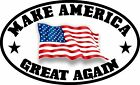 MAKE AMERICA GREAT AGAIN MAGA TRUMP AMERICAN FLAG DECAL STICKER POLITICAL