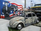 1968 Volkswagen Beetle Classic 1968 VOLKSWAGON BEETLE LOWERED PATINA RAT ROD STYLE COOL CAR NO RESERVE