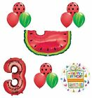 Watermelon Picnic Third 3rd Birthday Party Supplies and Balloons Decoration