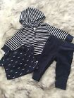 Carters baby boy blue stripes and mustache outfit