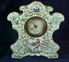 Antique Porcelain China Clock Birds and Flower Decorations Signed