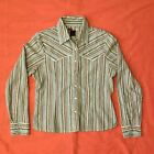 LIVE A LITTLE Pearl Snap Striped Western Shirt Womens Size Small Cowgirl EUC