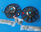 2 x 14 inch electric universal auto cooling radiator fan hot rad mounting kit