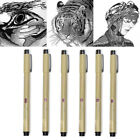8PCS Fine Liner Brush Art Drawing Set Signature Drawing Ink Needle Archival Pen
