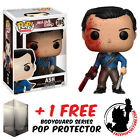 FUNKO POP ASH VS THE EVIL DEAD ASH BLOODY EXCLUSIVE FIGURE + FREE POP PROTECTOR