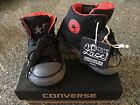 NIB Converse Infant Chuck Taylor Hi Street Black Gray Red Sneakers Shoes Size 3