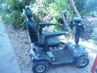 MOBILITY CART 4 WHEEL FULL SIZED LIGHTS TURN SIGNALS HITCH CARRIER W RAMP BLUE