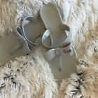 NEW COACH Silver Bow Flip Flop Jelly Thong Sandals Size 9