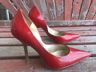 chERRy ReD Sz 7 PaTeNT Leather Pointy Toe CARRIE Stiletto Heels PUMP GuESS