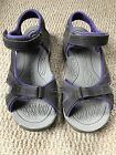 Keen Like New Gray  Purple Nubuck Sandals womans Size 65 Or Youth size 5
