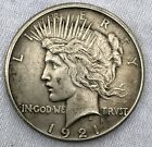 1921 US Silver Peace Dollar Coin