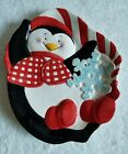 FITZ AND FLOYD - COOL CHRISTMAS PENGUINS CANAPE PLATE NOS 2005