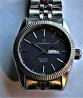 Vintage Eterna Kontiki Automatic 25 jewels Day Date All Stainless Steel Mid Size