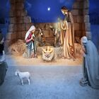 Jesus Nativity Sheepfold Photo Backdrop 10x10ft Seamless Photography Backgrounds