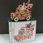 FITZ & FLOYD SANTA MOBILE MUSICAL VINTAGE CAR JALOPY WISH YOU A MERRY CHRISTMAS