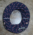 3 8 x 85ft Navy red w r tr Dac Polyester Halyard Spliced in S S Snap Shackle