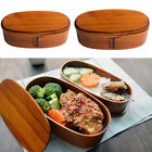 Japanese Vintage Wooden Wood Lunch Box Bento Double Layer Box Food Container